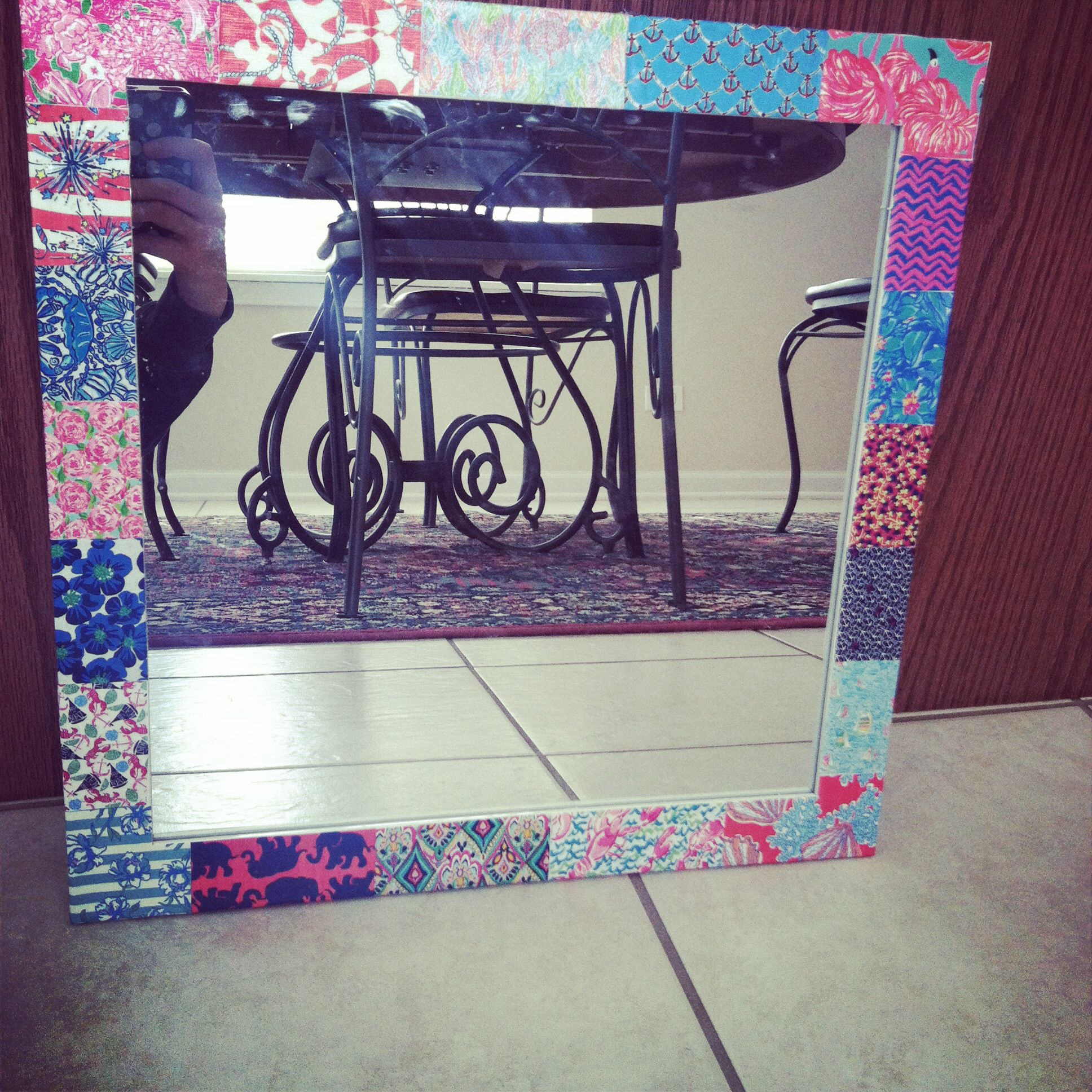 Lilly Pulitzer inspired mirror