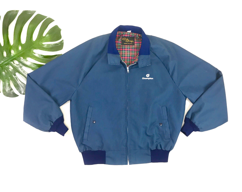 1970s Cal Craft Jacket Men S Vintage Navy Blue Bomber Etsy In 2020 Blue Bomber Jacket Navy Blue Bomber Jacket Vintage Men