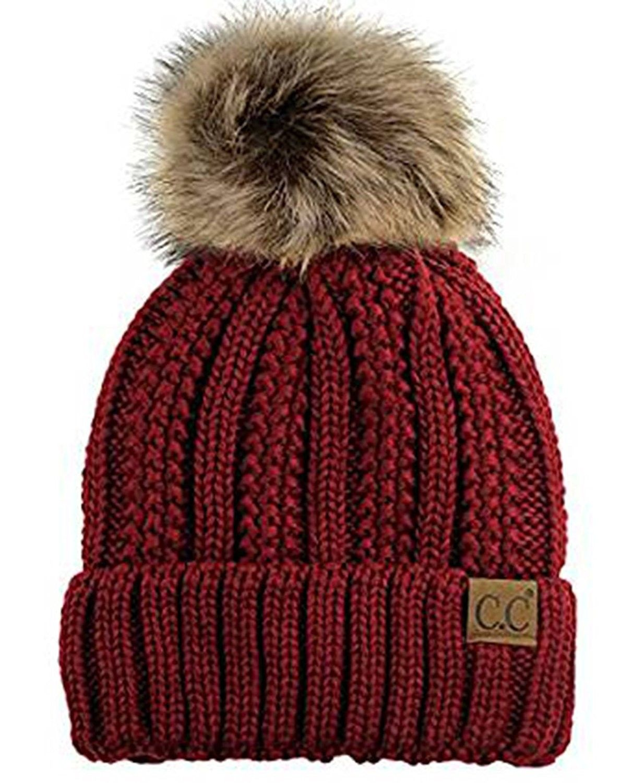 4d61298a3fcde Quality Womens Fleece Slouchy Burgundy - Burgundy - CI187UX7AI4 - Hats    Caps