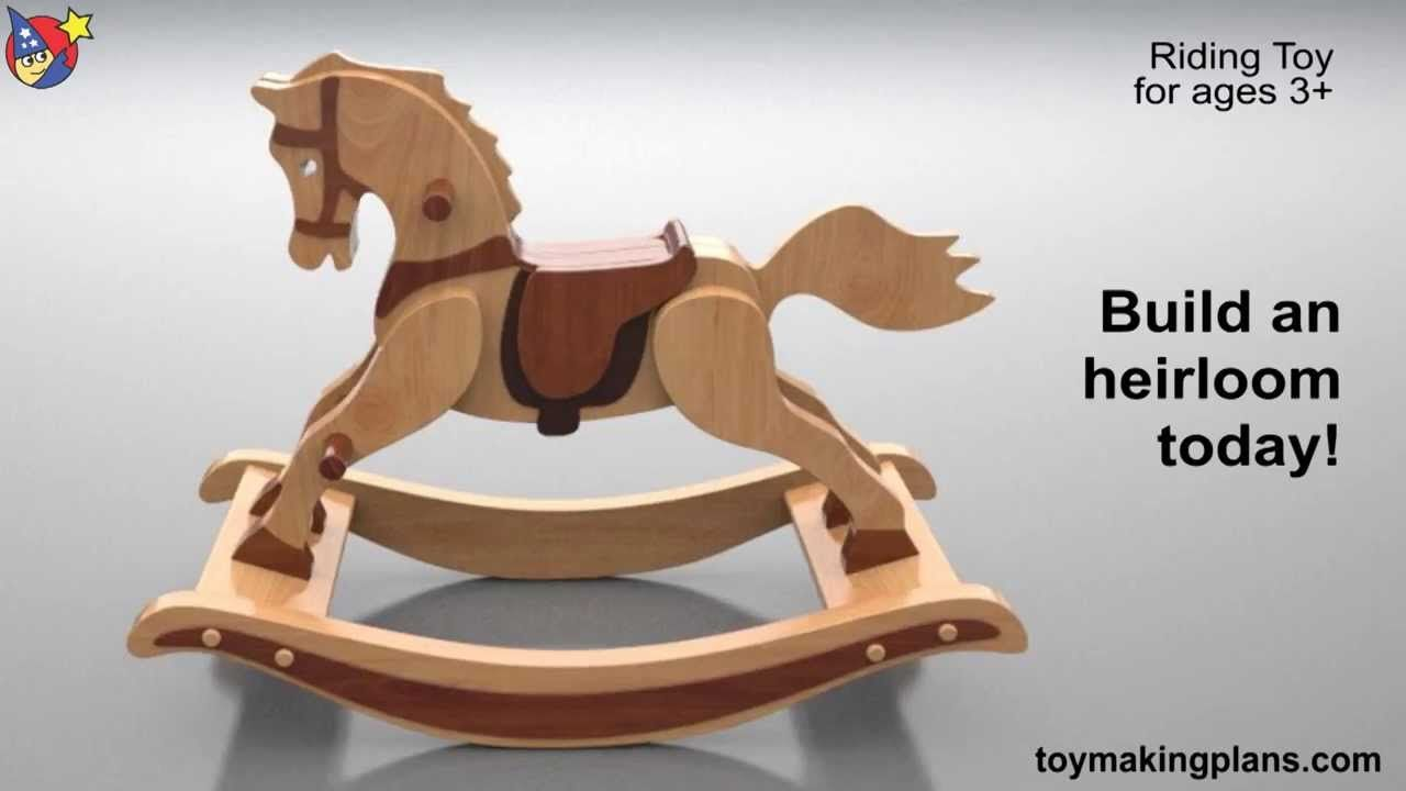 wood toy plans - antique 1890 rocking horse - youtube | chip