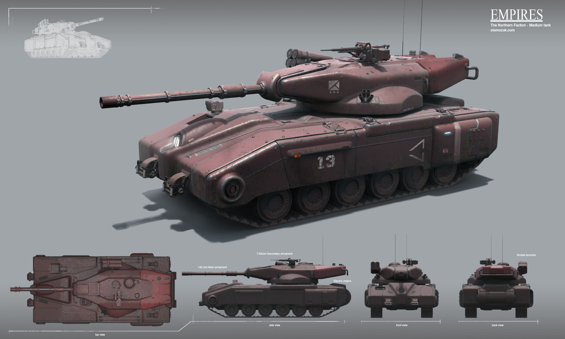 Artstation Empires Tanks Arthur Gurin Tank Sci Fi Tank