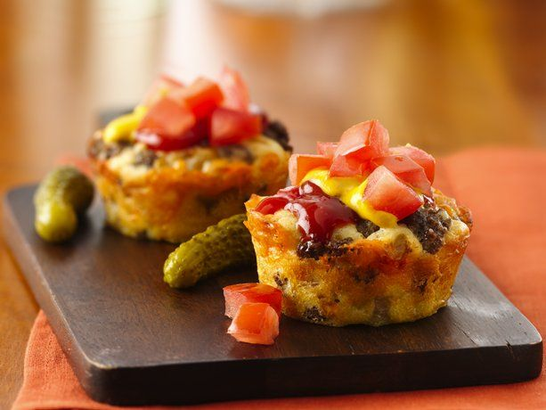 Impossibly Easy Mini Cheeseburger Pies