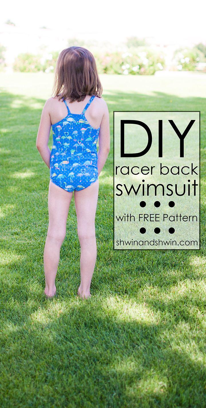 Racer back Swimsuit || With FREE PDF Pattern || Shwin&Shwin | Sewing ...