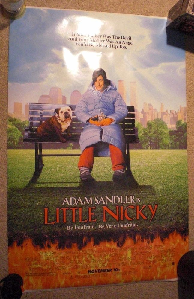 Little Nicky Original Double Sided One Sheet Adam Sandler