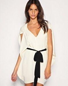 vestido blanco con lazo de Asos #trendistopic #moda #fashion #vestido #dress