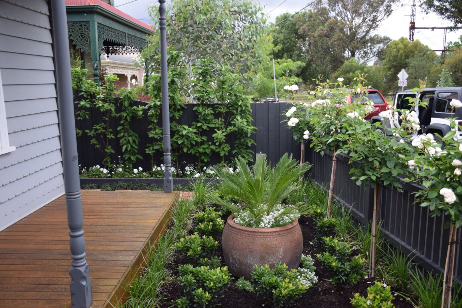Garden Ideas Melbourne alice in wonderland inspired heritage style front garden