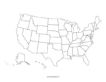 Us Map Blackline Master United States Blackline Map   Usa map, United states map, Us map