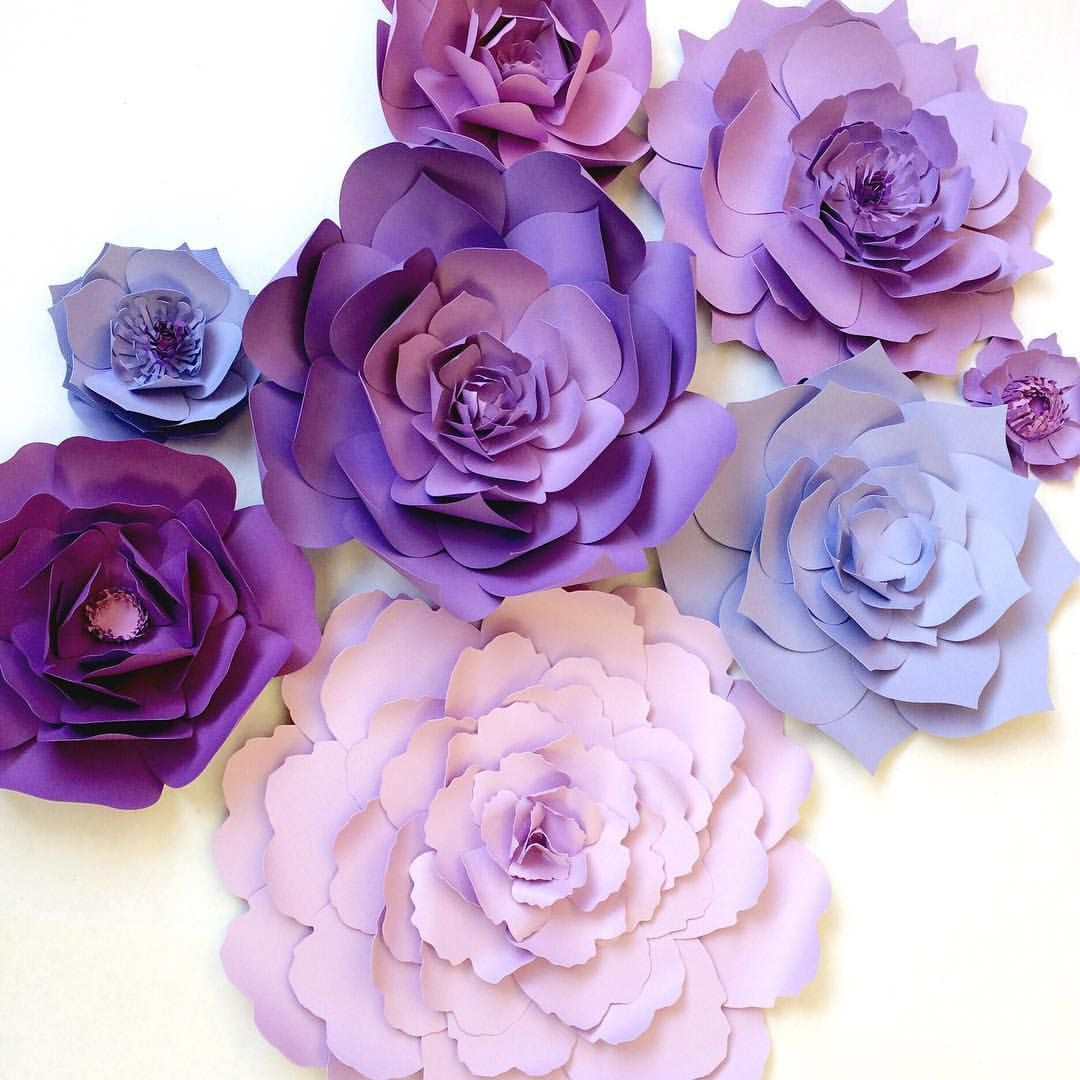 Paper flowers designed in shades of purple and violets perfect paper flowers designed in shades of purple and violets perfect backdrop for weddings birthdays mightylinksfo