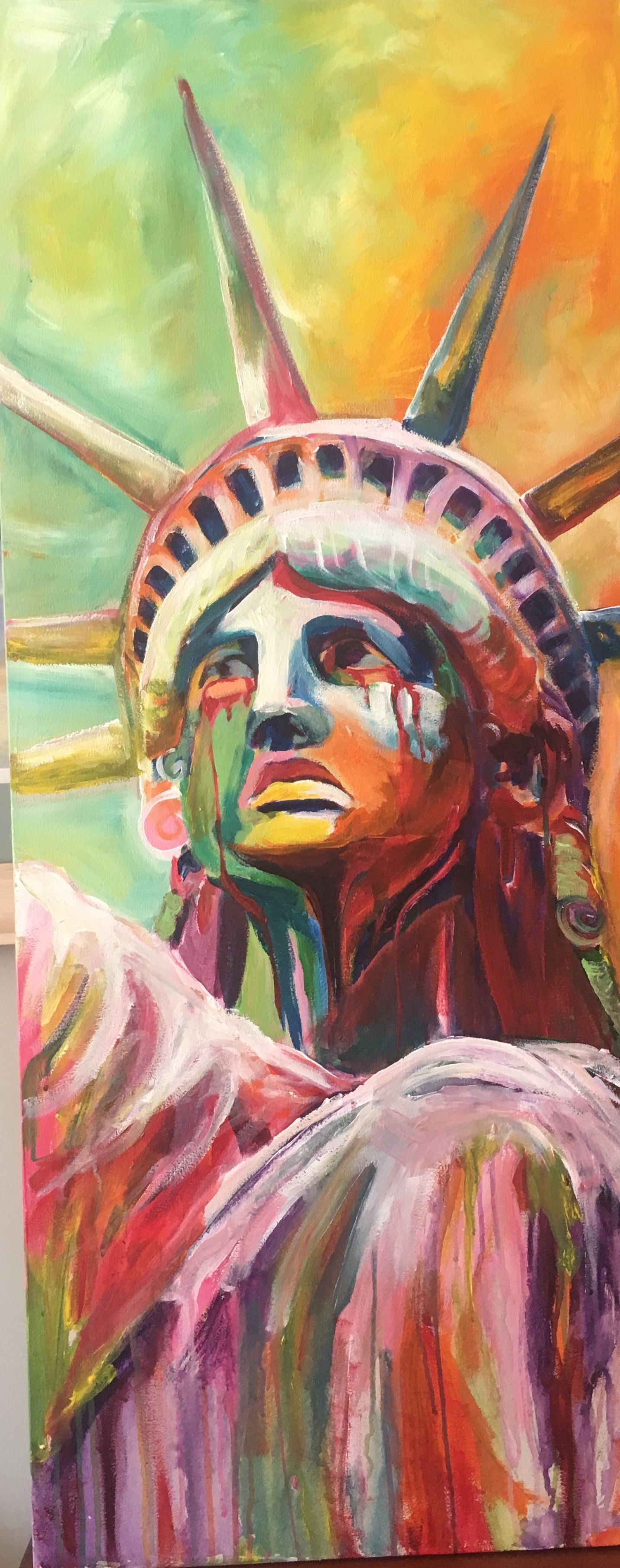 Picture Of Statue Of Liberty Crying