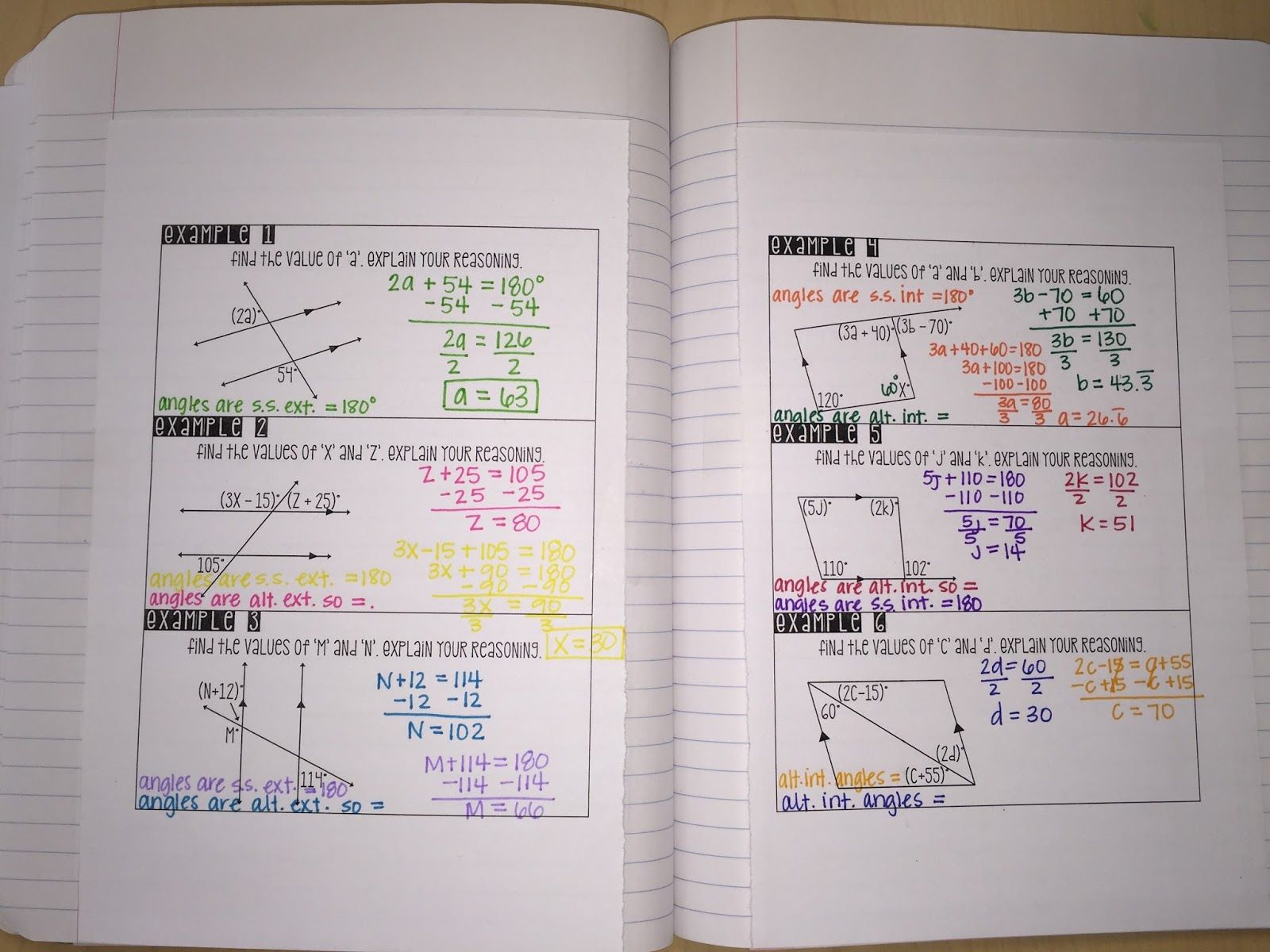Below Are Some Interactive Notebook Ideas For A Parallel