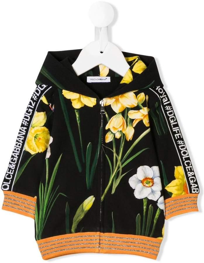 75d218f72 Dolce & Gabbana floral print full-zipped hoodie Full Zip Hoodie, Kids  Prints,