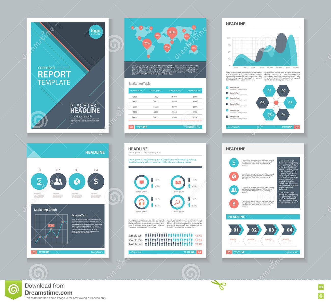photo about page layout design template for brochure flyer and