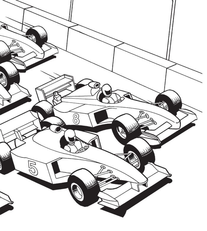 Start Race Coloring Page Cars