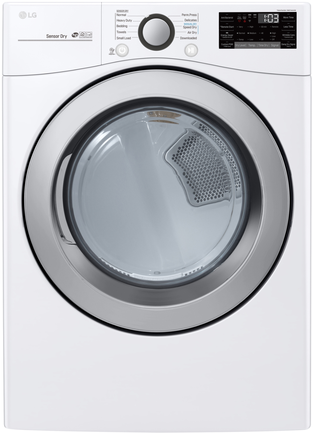 LG White Ultra Large Capacity Electric Smart WiFi Dryer