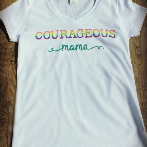 Courageous Mama Women's V-neck Tee