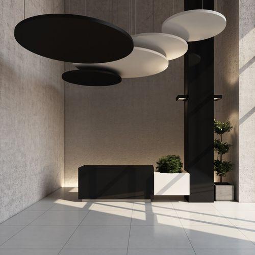 Panneau acoustique en polyester / pour faux-plafond / design / pour