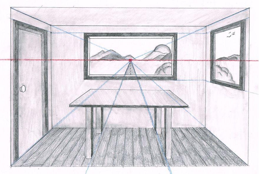 Linear Perspective Drawing Lesson Series 6 Of 6 One Point Perspective Room Drawing Linear Perspective Drawing Perspective Room Perspective Drawing Lessons