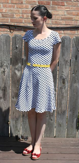 0a97e498be Polka dot Lady Skater dress by Sew Sweetness. This is my favourite version  to date.