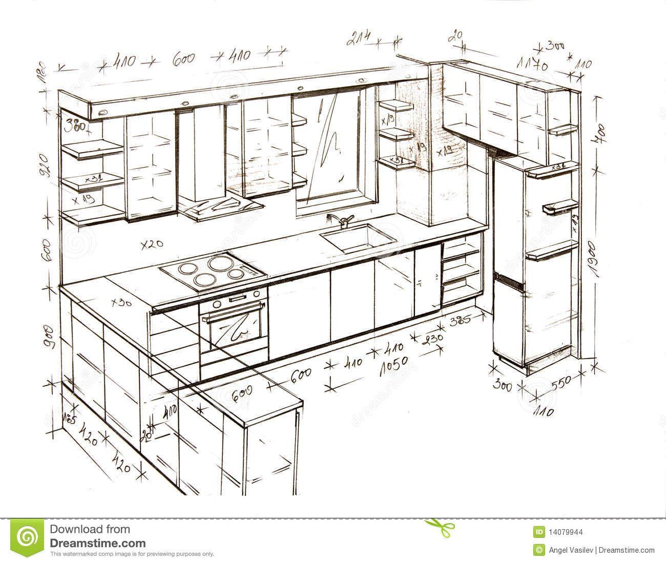 Comment Dessiner A Main Levee Plan Cuisine Dimension Meuble Cuisine Cuisine Design Moderne