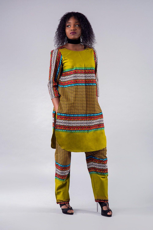 Ankara pant set set di pantaloni set di Ankara top