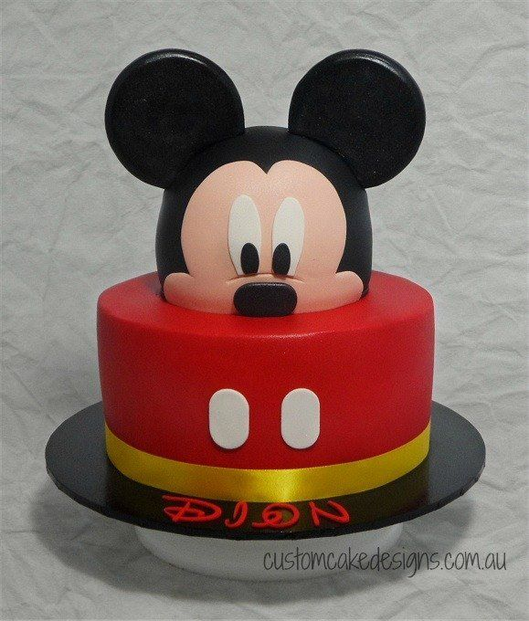 Mickey Mouse Cake With Images Mickey Mouse Birthday Cake