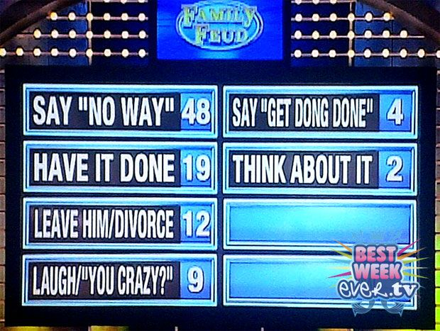 GUESS THE FAMILY FEUD QUESTION: Get Dong Done Edition | Christmas