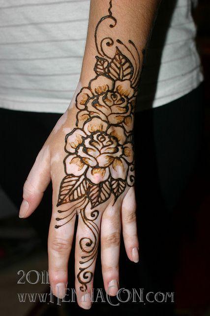 Rose Henna Tattoo Designs On Wrist: Rose Henna, Hand Henna, Henna Tattoo Designs