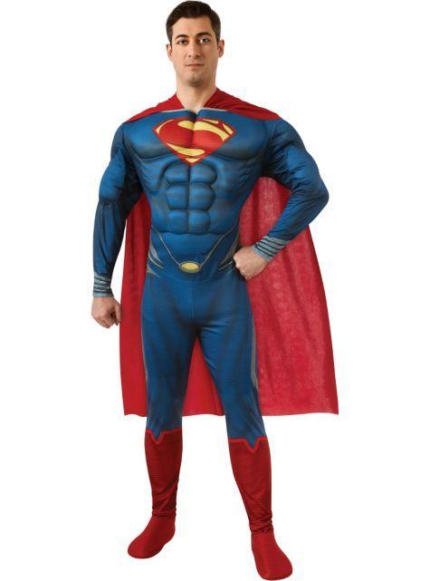 Adult Superman Costume Deluxe Man Of Steel Party City Superman Costumes Superman Halloween Costume Super Hero Costumes