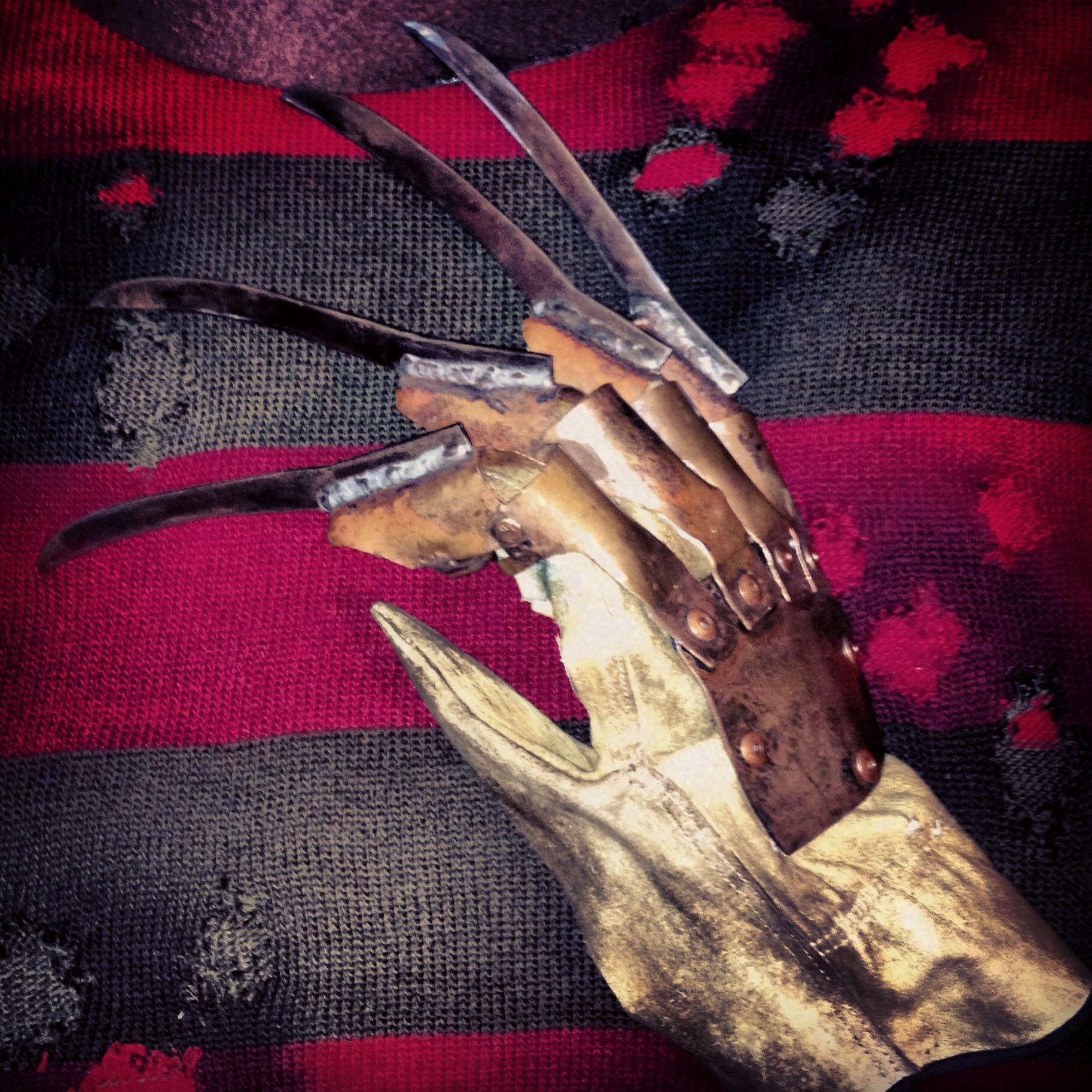 Freddy Krueger Glove I Made Home Made Freddy Krueger