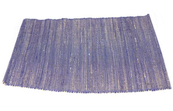 Placemat - Jute Solid Blue