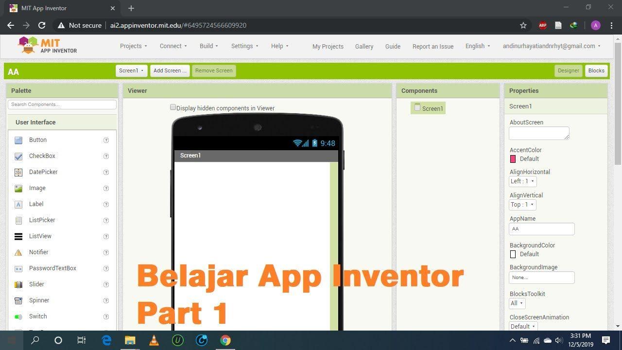Belajar Membuat Aplikasi Android Dengan App Inventor Part 1 Belajar Aplikasi Aplikasi Android