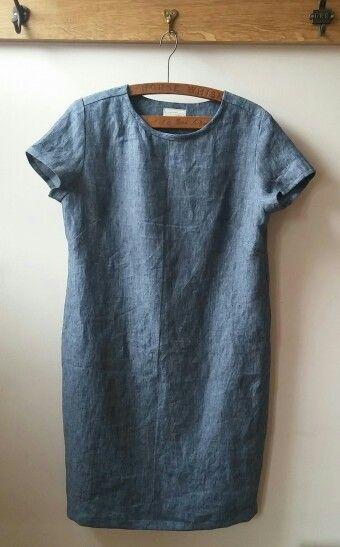 Merchant & Mills - Camber Dress - Scout Denim Linen - By The