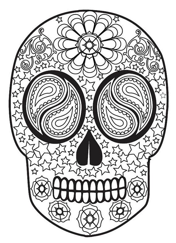 Adult Coloring Books Sugar Skulls Volume 1 50 By Bethingrias