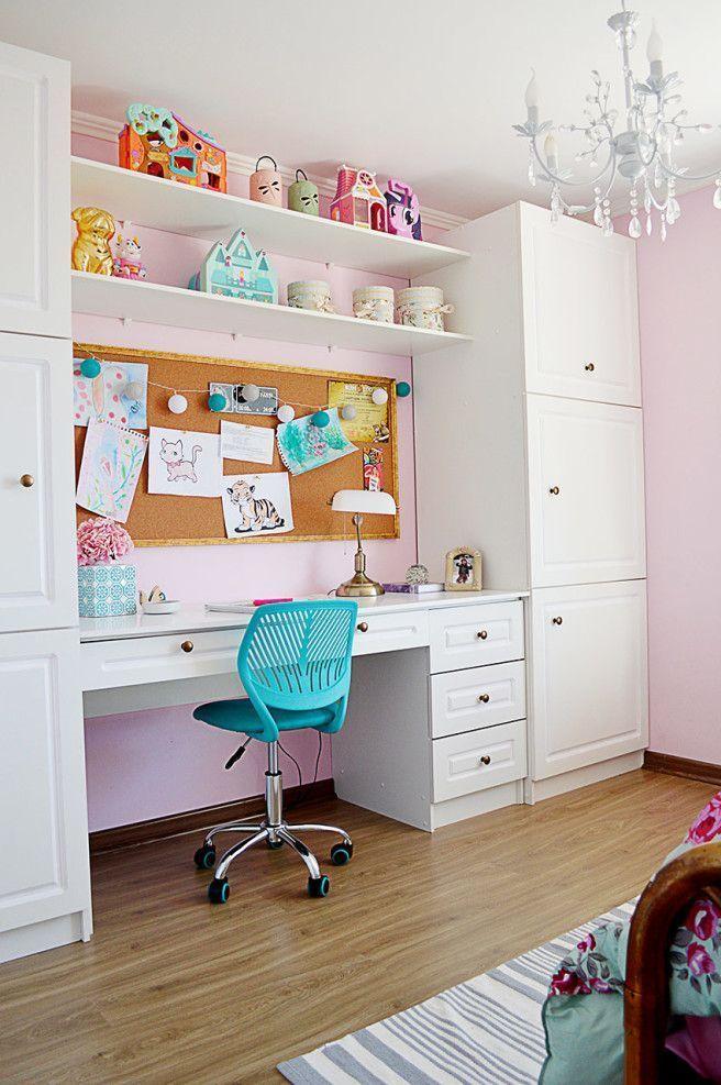 Photo of Meisjes slaapkamer met klassieke charme na