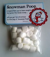 I've heard that you've been naughty, so here's the inside scoop... All you get for Christmas, is this bag of snowman poop!