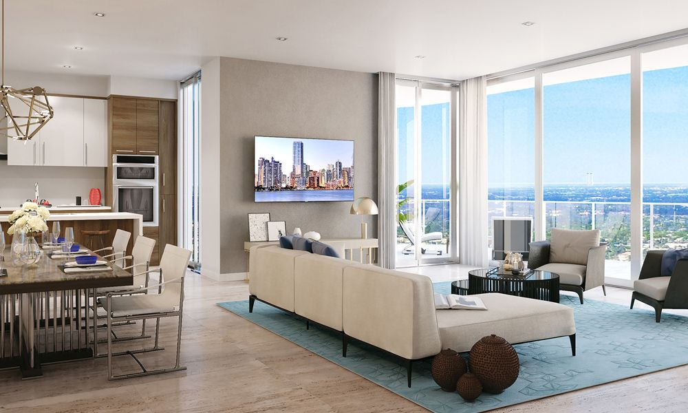 Designed by Bob Martin of The Decorator Unlimited, the residences at - moderne luxus wohnzimmer