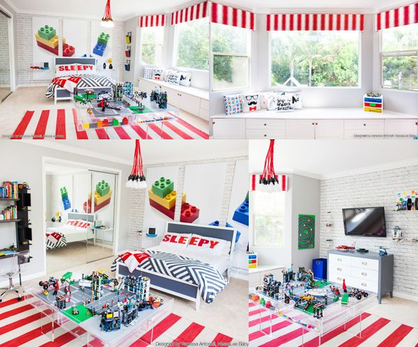 Room 2 Build Bedroom Kids Lego: Kendra Wilkinson And Hank Baskett's Son's Bedroom. Lego