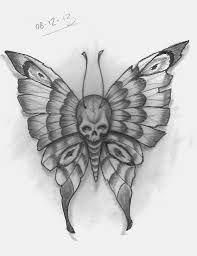 Photo of Bildergebnis für Schädel und Schmetterling Tattoo –  # Check more at 13tattoo….