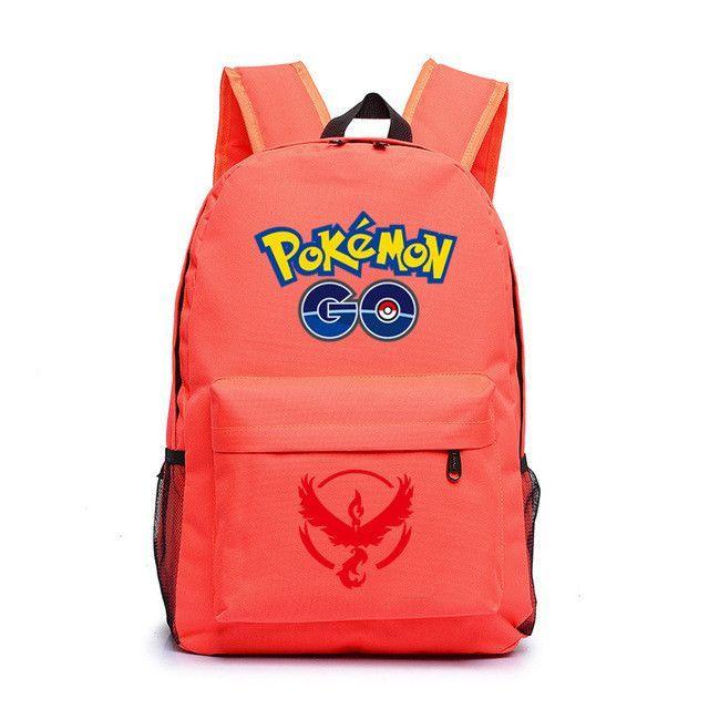 38b0ddda366b HOT-sale Anime Pokemon Go Game Backpack canvas Pikachu men women shoulder travel  bag Boys Girls Teenagers schoolbag Rucksack