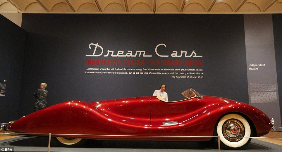 Concept autos show past visions of the future from Ferrari, Porsche, Bugatti and others