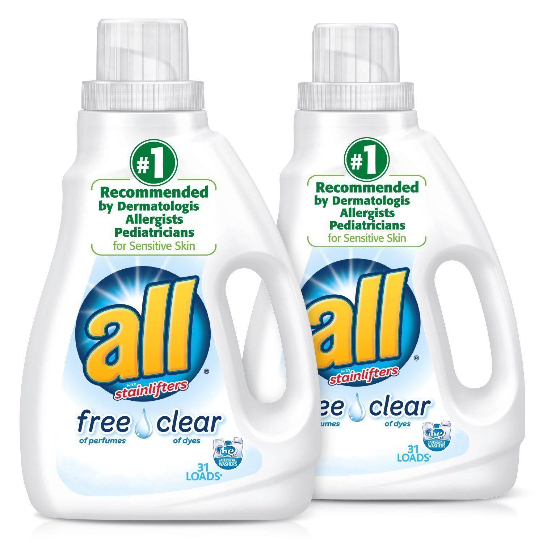 All Liquid Laundry Detergent For Sensitive Skin 46 5 Fluid