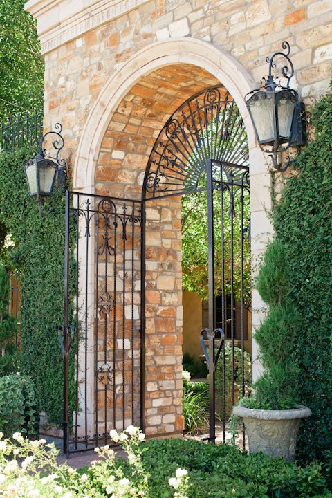 Beautiful Italian inspired entrance into Villa Siena | villasiena.cc