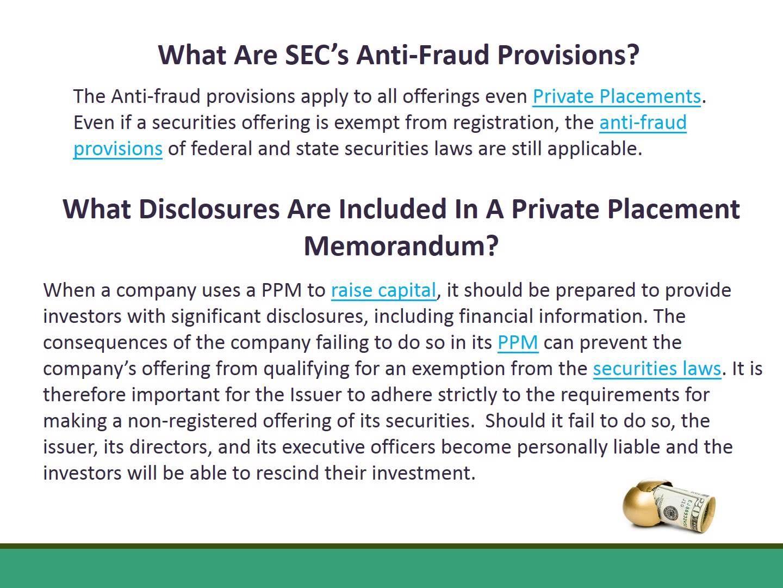 Private Placement Memorandum Q A Memorandum Placement Private