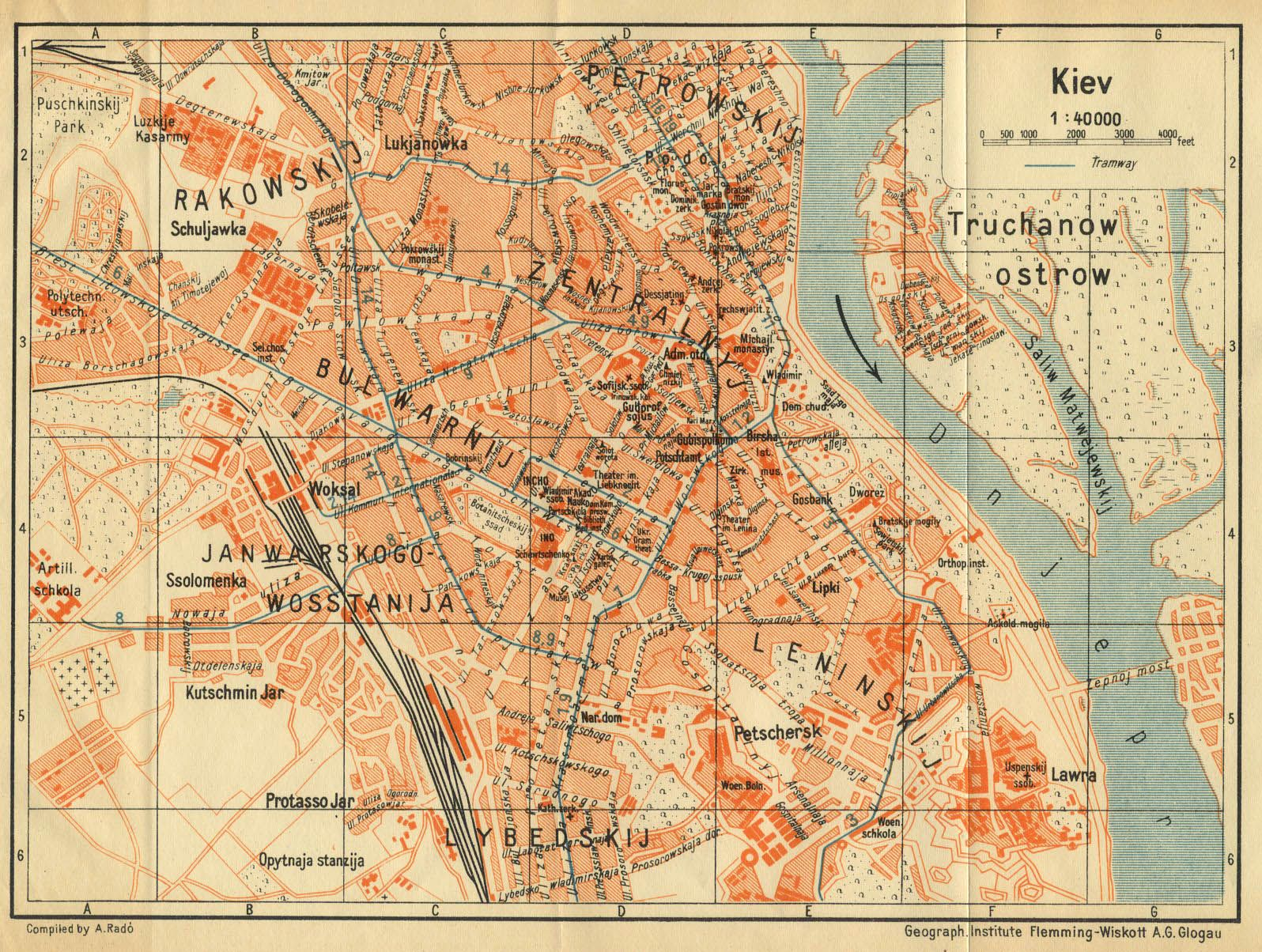 German Map Of Kiev 1929 Maps Pinterest Map Vintage Maps And
