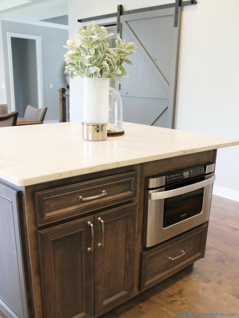 Kitchen Island With Sharp Microwave Drawer Kitchen By