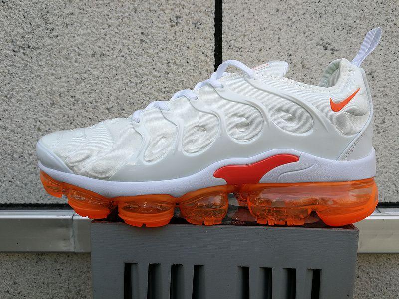 Best Quality Nike TN Air Vapormax Triple White Orange On Sale