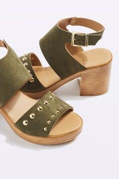 DICE Studded Mid Sandals