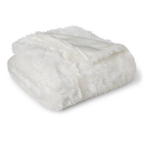 Threshold White Faux Fur Throw Blanket On Amazon For Draping Over Adorable Threshold White Faux Fur Throw Blanket