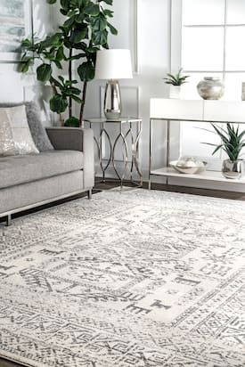 Rugs Usa Gray Bosphorus Teseh Tribal Tale Triptych Rug Bohemian Runner 2 8 X