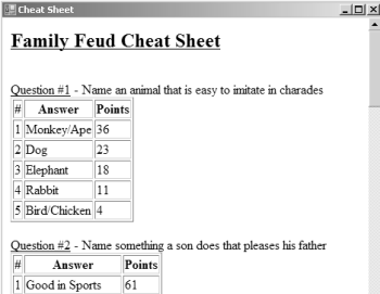 Generated cheat sheet | Computer Class | Family feud game, Family